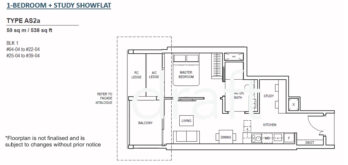 Canninghill-piers-floor-plan-1-bedroom-study-Type-AS2A-singapore